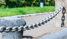 Powerful iron chain Royalty Free Stock Images