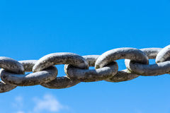 Powerful iron chain Stock Photo