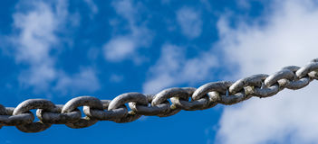 Powerful iron chain Stock Photos