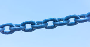 Powerful iron chain Royalty Free Stock Photo