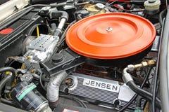 Powerful jensen engine bay Stock Image