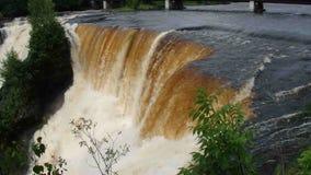 The powerful kakabeka waterfalls in north ontario stock video footage