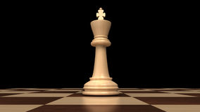 Powerful king of chess Royalty Free Stock Image