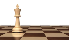 Powerful king of chess Stock Image