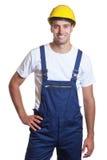 Powerful latin construction worker Stock Photo