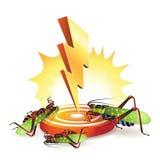 Powerful lightning bolt. Targeting grasshoppers Royalty Free Stock Photo