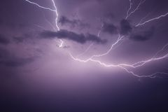 Powerful Lightning Bolt Royalty Free Stock Photography