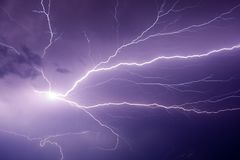 Powerful Lightning Bolt Stock Photography