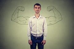 Free Powerful Man Reality Vs Ambition Wishful Thinking Concept Royalty Free Stock Photos - 66540338