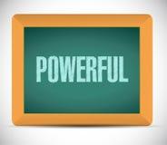 Powerful message illustration design Stock Photo