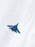 Powerful military is flying the Su-27 Royalty Free Stock Images