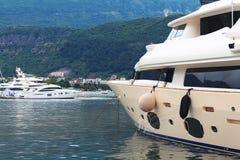 Powerful motor yacht Stock Image