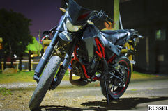 Powerful motorcycle. Pciture of a powerful motorcycle Stock Photo