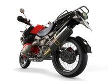 Powerful motorcycle - rear wheel closeup shot Stock Images