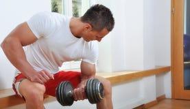 Powerful muscular man Stock Photo