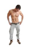 Powerful muscular man posing Stock Photos