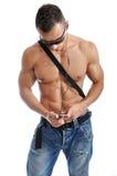 Powerful muscular man posing Stock Images