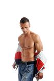 Powerful muscular man posing Royalty Free Stock Images