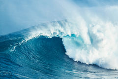 Powerful Ocean Wave. Giant powerful blue ocean wave in Hawaii Royalty Free Stock Photo