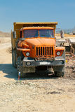 Powerful orange truck Stock Photography