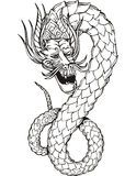 Powerful oriental dragon Royalty Free Stock Photography