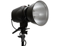 Powerful photographic flash Royalty Free Stock Photography