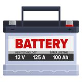 Powerful Portable Battery Isolated Illustration Royalty Free Stock Photo