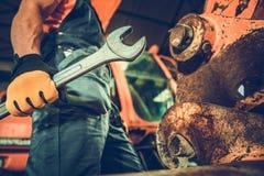 Powerful Professional Mechanic royalty free stock photos