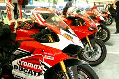 Powerful race motorcycles Stock Photos