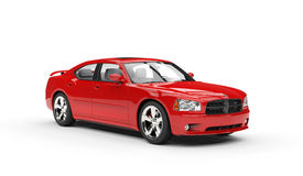 Powerful Red Car Stock Photo