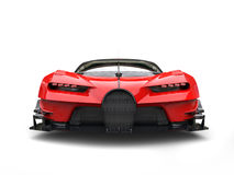 Powerful red super race car - front view closeup Stock Photo