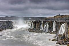 The powerful Selfoss waterfall Stock Photography