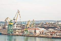 Powerful shipbuilding shipyard Royalty Free Stock Photography