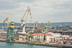 Powerful shipbuilding shipyard Royalty Free Stock Image