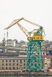 Powerful shipbuilding shipyard Stock Photos