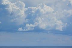 Powerful sky above Black sea. stock photo