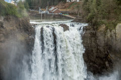 Powerful Snoqualmie Falls 4 stock images