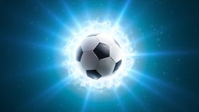 Powerful soccer energy. Global energy light background Royalty Free Stock Photography