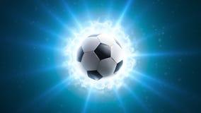 Powerful soccer energy. Global energy light background vector illustration
