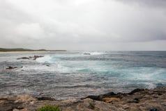 Powerful splash sea wave Stock Image