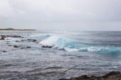 Powerful splash sea wave Royalty Free Stock Photos
