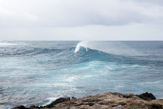 Powerful splash sea wave Stock Photos