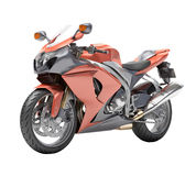 Powerful sportbike isolated Royalty Free Stock Photos