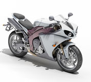 Powerful sportbike isolated Royalty Free Stock Photo