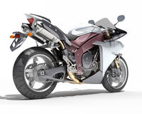 Powerful sportbike isolated Royalty Free Stock Image