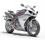 Powerful sportbike isolated Stock Photos