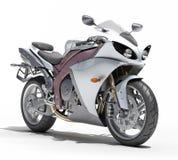 Powerful sportbike isolated Stock Photos