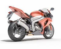 Powerful sportbike isolated Stock Images