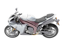Powerful sports motorcycle isolated Royalty Free Stock Image
