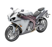 Powerful sports motorcycle isolated Stock Image